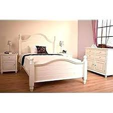 White Wooden King Size Bed Frame Wood Sturdy – toycloud