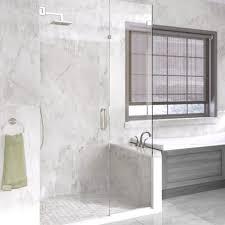 glass swing door inline panel and return panel shower door