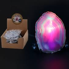 Geode Light Us 8 86 34 Off Christmas Agate Stone Slice Led Night Decoration Dyed Purple Mineral Rock Geode Druzy Slice Nightlight Desk Table Lamp In Led Night