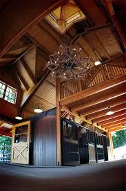 antler chandelier in horse barn