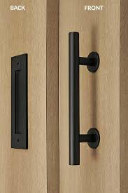 flush door pulls. barn door pull and flush tubular handle set (black powdered finish) pulls