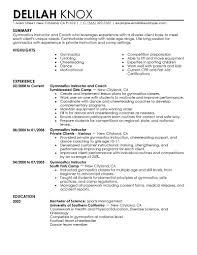 Dance Teacher Resume Sample School Resume Model Dance Instructor