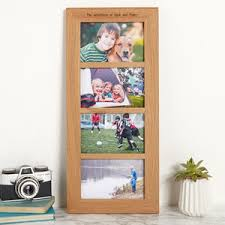 multiple picture frames wood. Solid Oak Personalised Multi Photo Frame Four Aperture Multiple Picture Frames Wood I