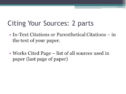 Citations and Works Cited Page Research Essentials    ppt download