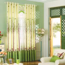 Fresh Green Tree Patterns Buy Window Curtains