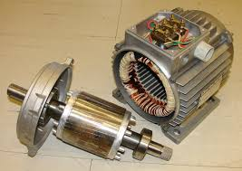 ac electric car motor. Electric Motor Rotor (left) And Stator (right) Ac Car