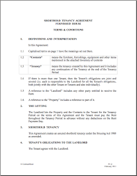 lease agreement sample agreement template shorthold tenancy agreement uk tenancy agreement