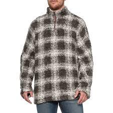 True Grit Charcoal Softest Tip Box Plaid Shearling Shirt