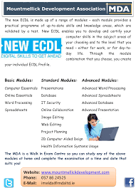 ecdl ecdl offers an excellent benchmark of employee skills on completion of the course participants will hold an internationally recognised qualification