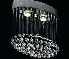 oval crystal chandelier chandeliers small hallway new design lighting flush mount drop oval crystal chandelier