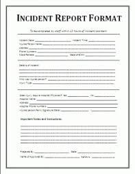 Incident Report Format Template