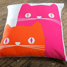 Pink And Orange Bedroom Decorations Funny Cream Square Pillow Design Featuring Pink And