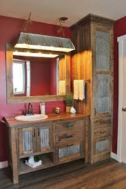 rustic bathroom vanities ideas. Contemporary Rustic 3 Towel Closet With Tin And Wood In Rustic Bathroom Vanities Ideas A