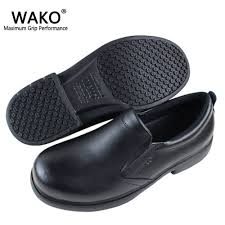 details about men s chefs shoes kitchen anti slip leather shoes safety shoes oil water proof