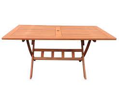 Dasversandhaus24de Gartenklapptisch Rio Grande 140x80cm Holztisch
