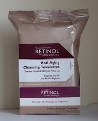 review retinol anti aging cleansing towelettes 21 tca at home ling kit from makeup artists choice