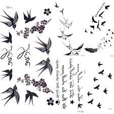 2192 руб 10 скидкамилые ласточка птица перо временные наклейки ветвь цветка