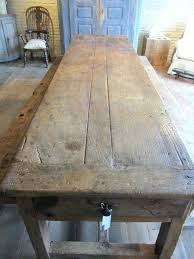 hand crafted walnut stained farm tables vintage table wood
