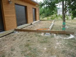 Nivrem Com Ossature Terrasse Bois Sur Plot Beton Diverses