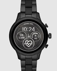 Michael Kors Black Runway Display Smartwatch By Michael Kors