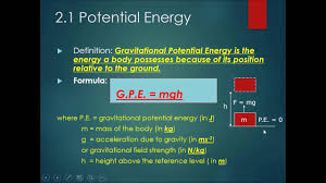 chapter 6 work energy power part 2 gravitational potential energy