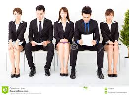 business people waiting for interview stock photo image  business people waiting for interview