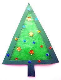 Tannenbäume Aus Transparentpapier Fürs Fenster Weihnachten