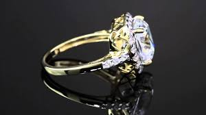 10k Yellow Gold Cubic Zirconia Engagement Rings