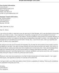 Cover Letter Samples For Hotel Job Nwpmbelize Com