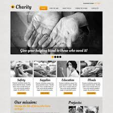Website Template Newspaper Newspaper Style Website Template For Charitable