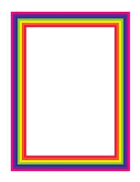 Rainbow Page Border 71 Best Page Borders Images Borders Frames Borders For Paper