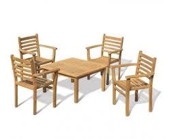 hilgrove teak garden coffee table and 4