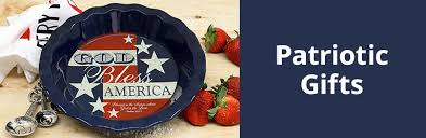 patriotic gifts bless america pie plate