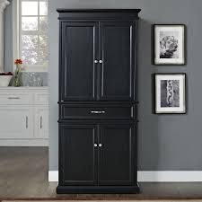 black wood storage cabinet. Black Wooden Distressed Pantry Cabinet With Wood Storage M