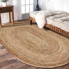 oval indoor area rug natural jute natural gray 7 ft x 9 ft oval indoor area rug