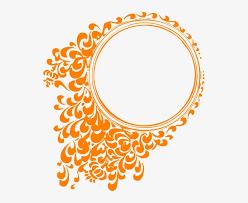 tangerine frame clip art circle
