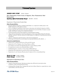 ... Resume Page 1 of 4; 2. Professional ExperienceMODERN DRUG ...