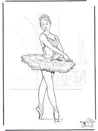 Ballet 3 Kleurplaat Ballet