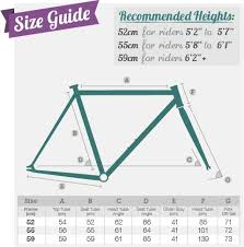 Fixed Gear Bike Frame Size Chart Bike Size Guide Fixie Single Speed Bikes Fixed Gear Frenzy