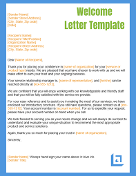 Welcome Letter Template Welcome Letter Template Free Business Writing Templates