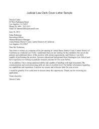 Judicial Law Clerk Cover Letter Sample For Internship No