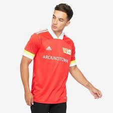 Union berlin are the 56th and newest club to play in the bundesliga, and have quickly become one of its most charismatic as the team from east germany finally get their chance at the big time. Adidas Union Berlin 20 21 Home Shirt Vivid Red White Mens Replica Tops Pro Direct Soccer