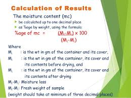 Moisture Content Determination Of Seed Moisture Content