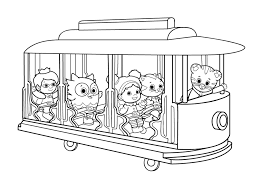 Daniel Tiger Coloring Pages Getcoloringpagescom