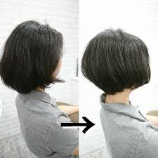くせ毛を活かす硬い重い印象の髪質を女性らしく柔らかいくせ毛ボブへ
