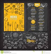 Food Menu Design Ideas Restaurant Cafe Menu Template Design Stock Vector