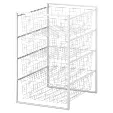wire closet drawers luxury antonius frame and wire baskets white