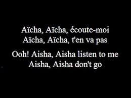 Aicha - Cheb Khaled - French (subs francais -anglais-French-English) -  YouTube