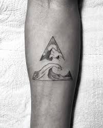 Wave And Mountain In A Triangle Tattoogridnet