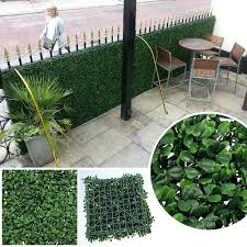 artificial privacy fence fake hedges outdoor plant foliage for house wedding bushes silk ideas the to enlarge fake outdoor bushes